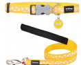 Red Dingo yellow and white spot dog collar